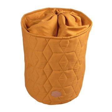 Filibabba Zamykany pojemnik materiałowy na zabawki 42 x 35 x 35 cm Golden Mustard FILIBABBA