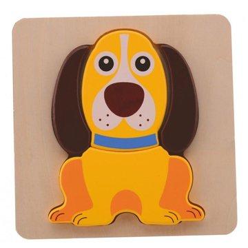 Joueco - Drewniane puzzle Animal - piesek
