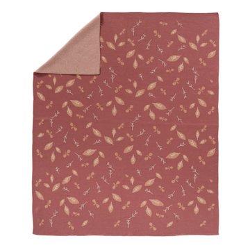FRESK - Fine knitted blanket 80 x 100 cm Forest rose