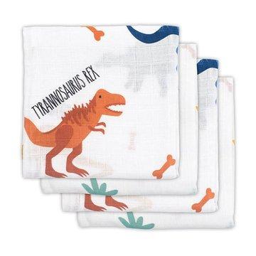 Jollein - Baby & Kids - Jollein - 4 pieluszki niemowlęce Hydrophilic 70 x 70 cm Dinosaur