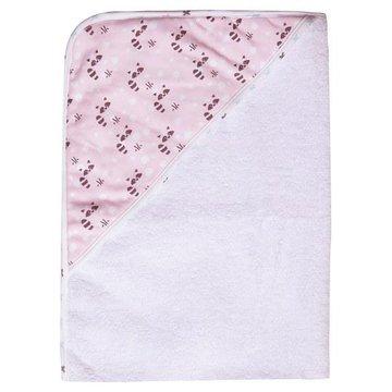 Ręcznik kąpielowy z kapturem LUMA Racoon Pink