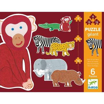 Djeco - Puzzle kart.gigant Henri i przyjaciele  DJ07147