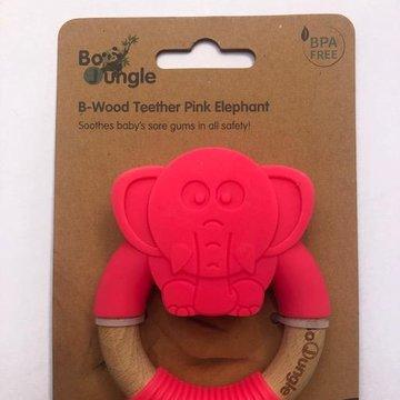 Bo Jungle - B-Gryzak drewniano-silikonowy Animals Elephant Pin