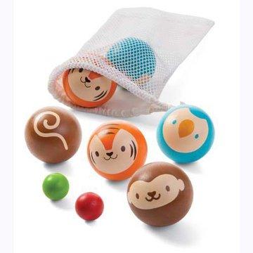 Drewniana gra w boule, Petanque, Plan Toys® - USZKODZONE OPAKOWANIE