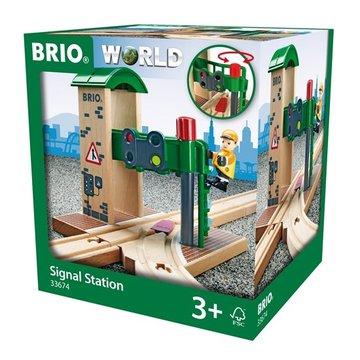 BRIO World Zwrotnica z Sygnalizacją