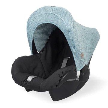 Jollein - Baby & Kids - Jollein - Osłonka tkana do fotelika nosidełka 0 - 9 m-cy Confetti Knit STONE GREEN