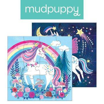 Mudpuppy Puzzle magnetyczne Magiczne jednorożce 4+