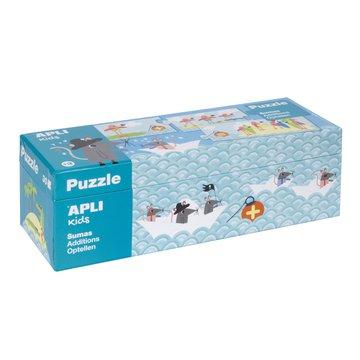 Puzzle do nauki dodawania Apli Kids - Myszki 5+
