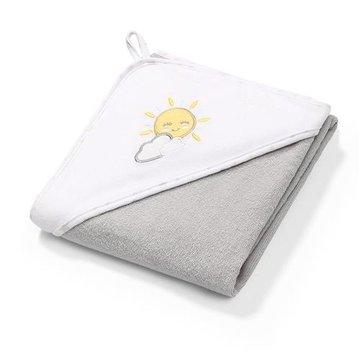 BABYONO - 141/08 Okrycie kąpielowe frotte - ręcznik z kapturkiem 76x76cm