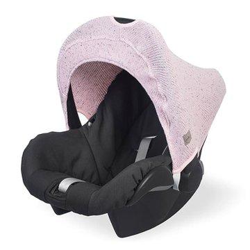 Jollein - Baby & Kids - Jollein - Osłonka tkana do fotelika nosidełka 0 - 9 m-cy Confetti Knit VINTAGE PINK