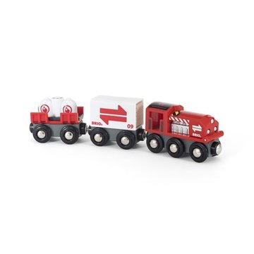BRIO World Pociąg Towarowy z Wagonami