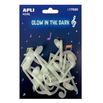 Fluorescencyjne naklejki Apli Kids - Nutki 12 sztuk