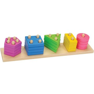Goki® - Pastelowy sorter kształtów, GOKI-58927 USZKODZONE OPAKOWANIE!