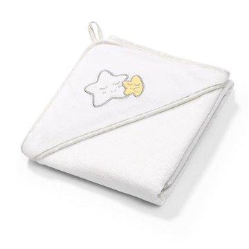 BABYONO - 142/07 Okrycie kąpielowe frotte - ręcznik z kapturkiem 100x100cm