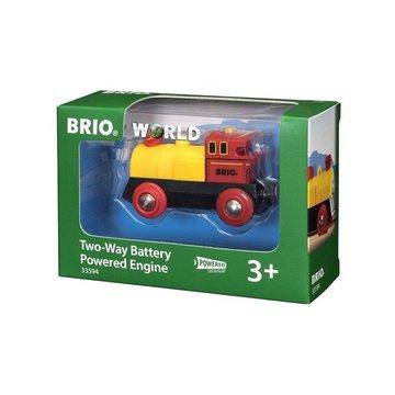 BRIO World Lokomotywa na Baterie Żółta