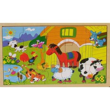 Brimarex - Puzzle drewniane - zwierzęta