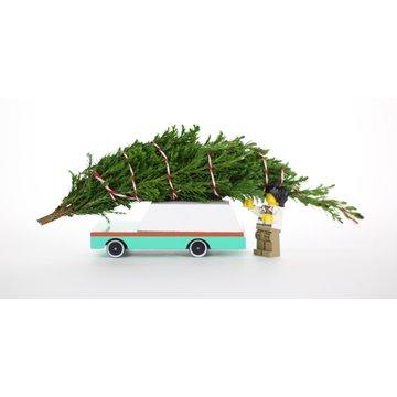 Candylab Drewniany Samochód Teal Wagon