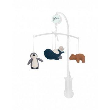 Jollein - Baby & Kids - Jollein - Karuzela muzyczna do łóżeczka Baby Mobile Polar