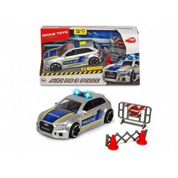 Dickie - Pojazd SOS Policja Audi RS3, 15 cm