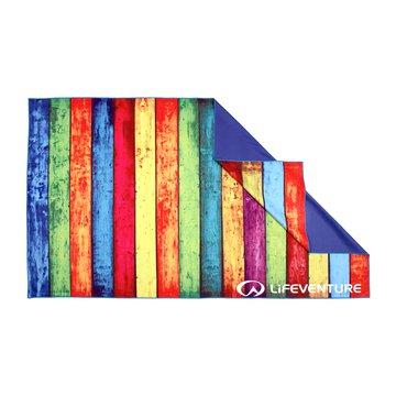 LittleLife - Ręcznik szybkoschnący Soft Fibre Lifeventure - Striped Planks 150x90 cm