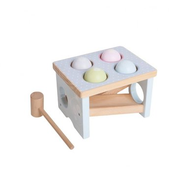 iWood - Młoteczek przebijanka drewniana Pastelowa