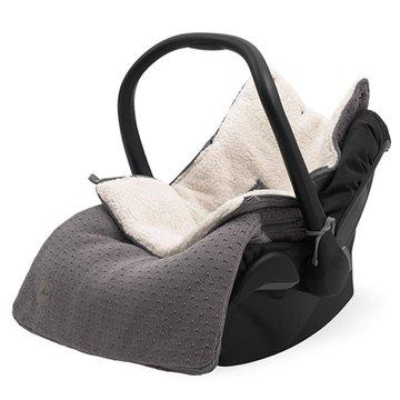 Jollein - Baby & Kids - Jollein - Śpiworek oddychający do wózka i fotelika Bliss Knit STORM GREY