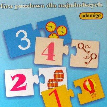 Adamigo - Gra Puzzlowa Poznaję Cyferki
