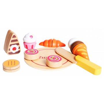 iWood - Drewniane jedzenie Ciasto Babeczki Lody