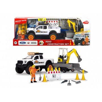 Dickie - Pojazd Play Life Zestaw naprawy ulic 41 cm