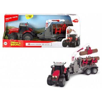 Dickie - Pojazd Farm Traktor Massey Ferguson, 42 cm