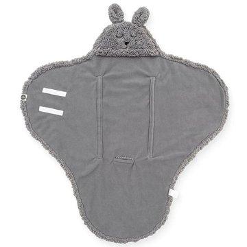 Jollein - Baby & Kids - Jollein - Śpiworek otulacz do fotelika i wózka Bunny STORM GREY