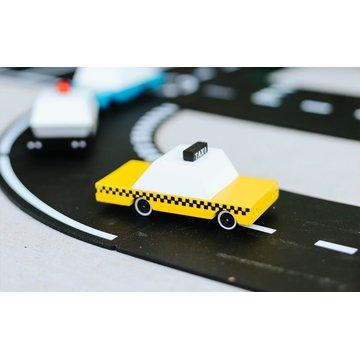 Candylab Drewniany Samochód Yellow Taxi
