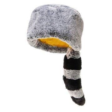 Rockahula Kids - czapka zimowa futerko z ogonem Ronnie Racoon Furry 7 - 10 lat