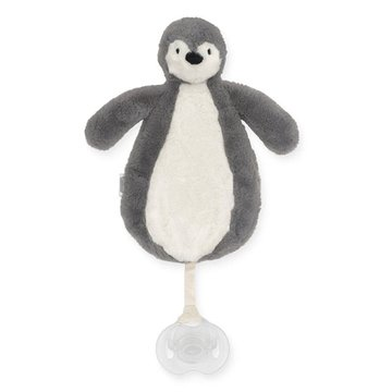 Jollein - Baby & Kids - Jollein - Przytulanka dou dou z zawieszką na smoczek Pingwin STORM GREY