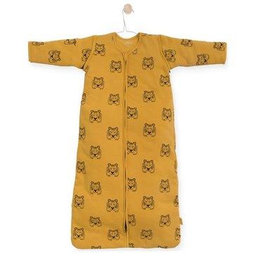Jollein - Baby & Kids - Jollein - Śpiworek niemowlęcy całoroczny 4 pory roku z odpinanymi rękawami Tiger MUSTARD 110 cm