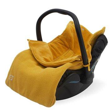 Jollein - Baby & Kids - Jollein - Śpiworek oddychający do wózka i fotelika Basic Knit OCHER