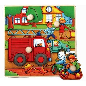 Brimarex - Puzzle drewniane z pinezkami TOP BRIGHT - Straż Pożarna