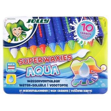 Jolly - Kredki świecowe Aqua niełamiące się w metalowym pudełku