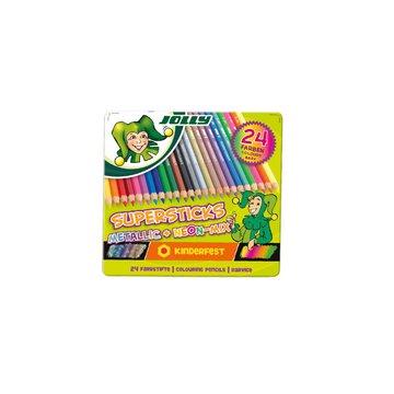 Jolly - Kredki Supersticks 24 kolory w tym metaliczne i neon