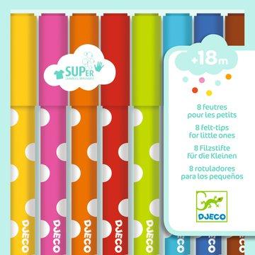 Djeco - Flamastry dla maluchw 8 kolorw DJ09001
