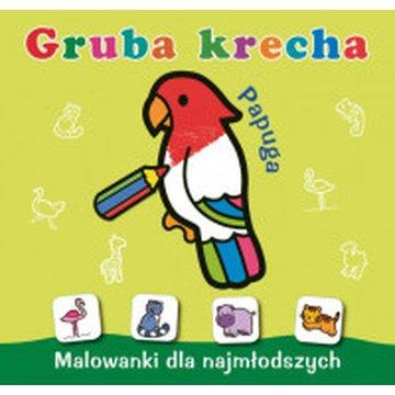 Skrzat - Malowanki dla najmłodszych. Gruba krecha. Papuga