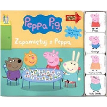 Media Service Zawada - Peppa pig. Książka twardostronicowa z kartami memo