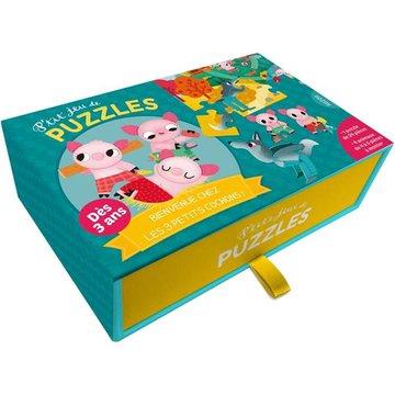 Auzou Puzzle 3 świnki z przestrzennymi zwierzątkami 56499