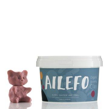 Ailefo, Organiczna Ciastolina, duże opakowanie, róż, 540g AILEFO