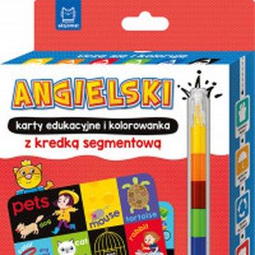 Aksjomat - Angielski. Karty edukacyjne i kolorowanka z kredką segmentową. Uczę się i koloruję 5+