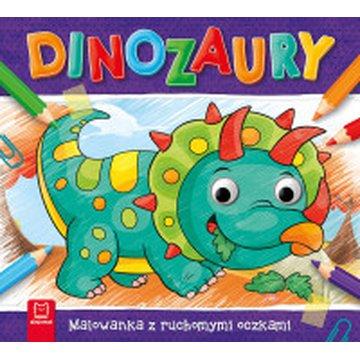 Aksjomat - Dinozaury. Malowanka z ruchomymi oczkami