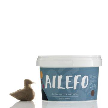 Ailefo, Organiczna Ciastolina, duże opakowanie, brąz, 540g AILEFO