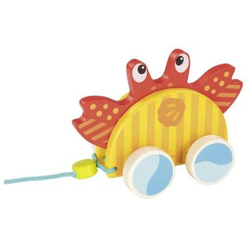 Goki® - Drewniana zabawka do ciągnięcia krab