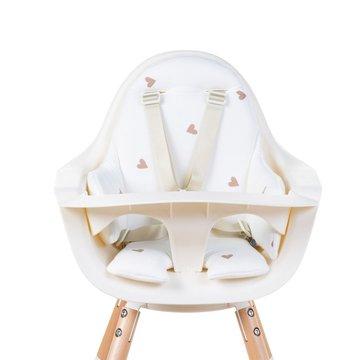 Childhome Dwustronny ochraniacz do krzesełka Evolu 2 Jersey Hearts CHILDHOME