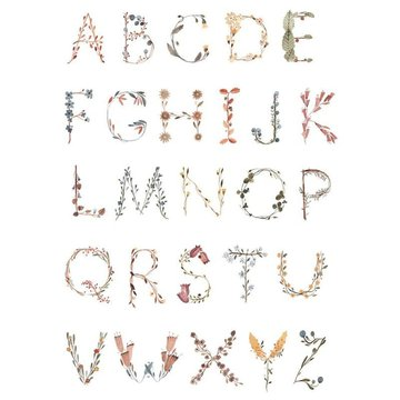 Mushie - Plakat Alphabet Large mushie